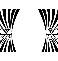 Black and white curtains on a white background vector