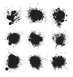 black ink splat vector image