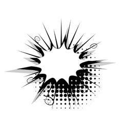 Blank template comic speech star bubble burst vector
