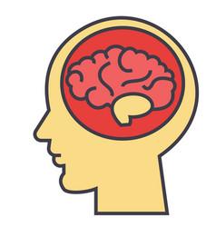 Brain head brainstorm mind idea generation vector