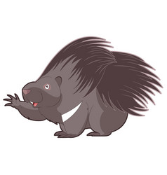 Cartoon happy porcupine vector