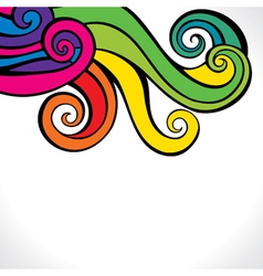 colorful swirl design background vector image