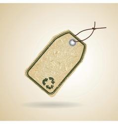 Eco recycle tag vector