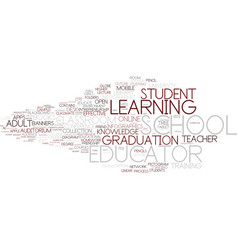 Educator word cloud concept vector