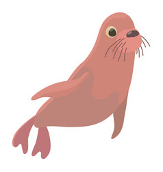 Fur seal icon cartoon style vector