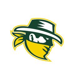 Green bandit mascot vector