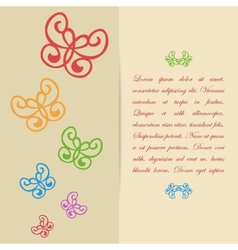 Greeting card or invitation design with vector image vector image