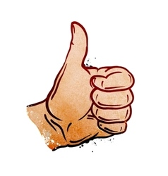 hand gesture thumb up vector image vector image