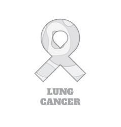 Lung cancer awareness papercut ribbon vector