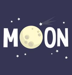 moon sign full moon conceptual flat editable sign vector image