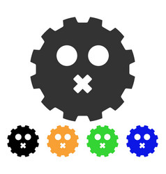 mute smiley gear icon vector image