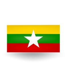 Myanmar Flag vector image