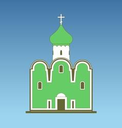 Old orthodox church vector