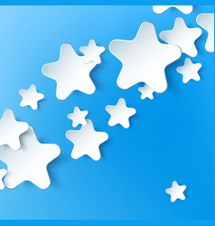 Paper 3d star background vector image vector image