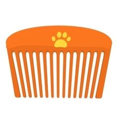 Pet comb icon cartoon style vector