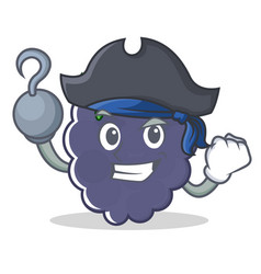 Pirate blackberry character cartoon style vector