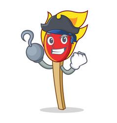 Pirate match stick character cartoon vector