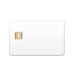 realistic bank card template vector image vector image