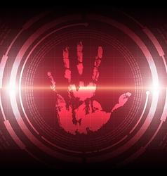 Scan handprint technology vector