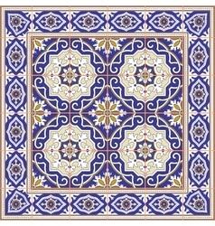 Seamless Moroccan Portuguese Azulejo tiles vector image