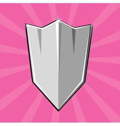 Shining shield vector
