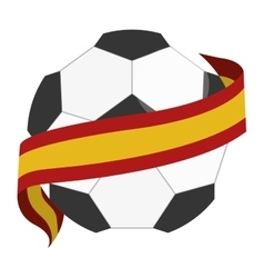 Soccer ball with spain flag vector