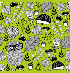 Summer time seamless pattern with wild birds and vector