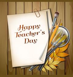 Teacher s day card vector