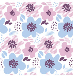 Tender color abstract floral seamless pattern in vector