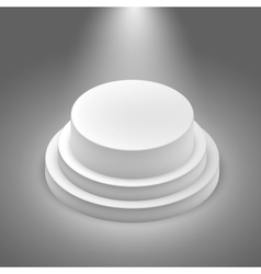 White empty stage vector image vector image