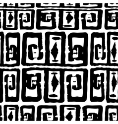 Seamless monochrome hand drawn greek pattern on vector