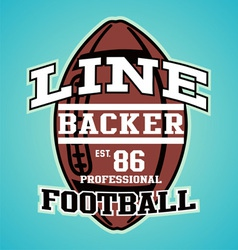 Line backer vector
