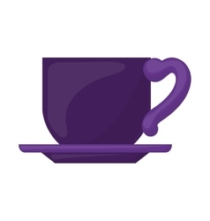 Purple dish porcelain with cup vector