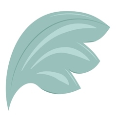 Bird wing blue feathers icon cartoon style vector