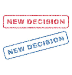 New decision textile stamps vector