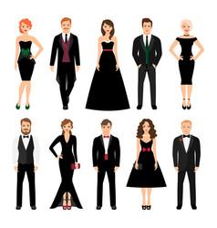 elegant fashion people vector image