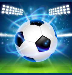 Soccer ball on the field cover background vector