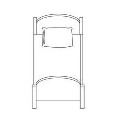Single bed icon vector