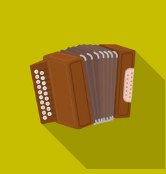 Accordion icon in flat style isolated on white vector