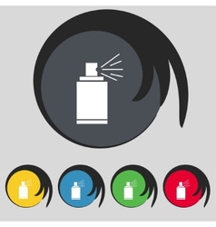 Graffiti spray can sign icon aerosol paint symbol vector