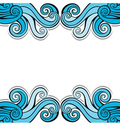 Blue abstract swirl background pattern vector