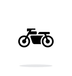 Motorbike simple icon on white background vector