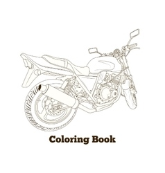 Coloring book motorbike vector