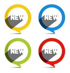 Circle Colorful New Labels Set vector image