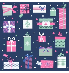 Vintage christmas gifts background vector