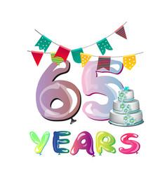 65th anniversary celebration logo design vector image vector image