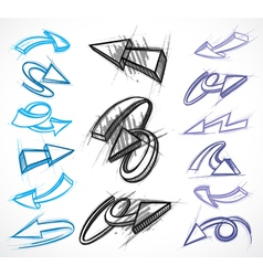 Illustrated arrow collections vector