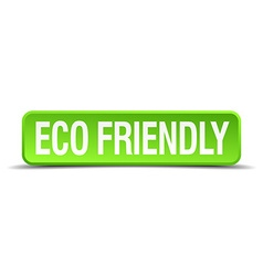 Eco friendly green 3d realistic square isolated vector