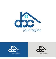 abc home logo vector image