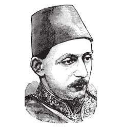 Abdul hamid ii vintage vector